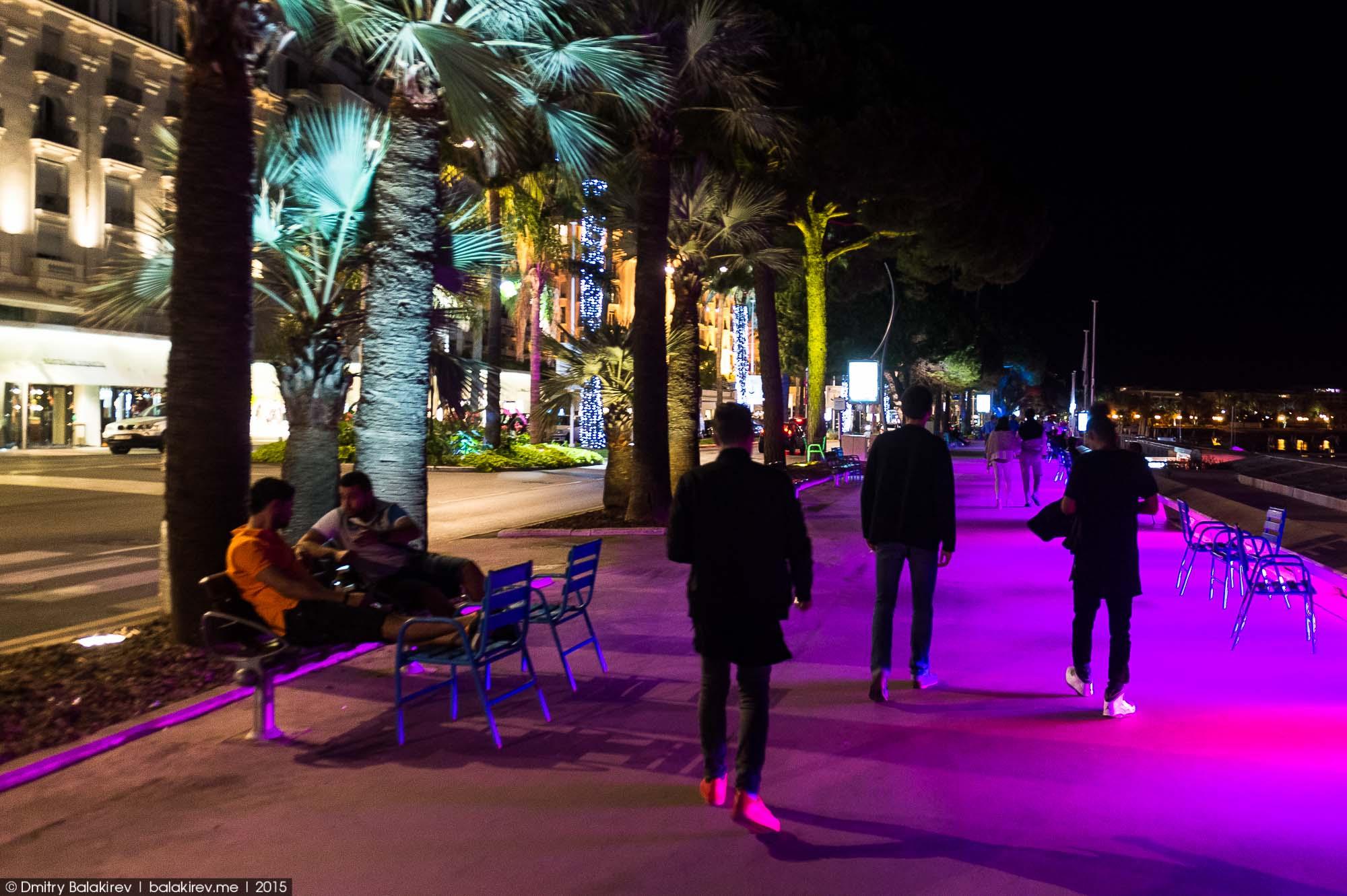 Прогулка по ночным Каннам