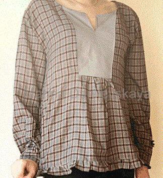 расширяем рубашку на груди Marina Danilevskaya