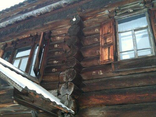 Нумерация бревен для сборки-разборки здания