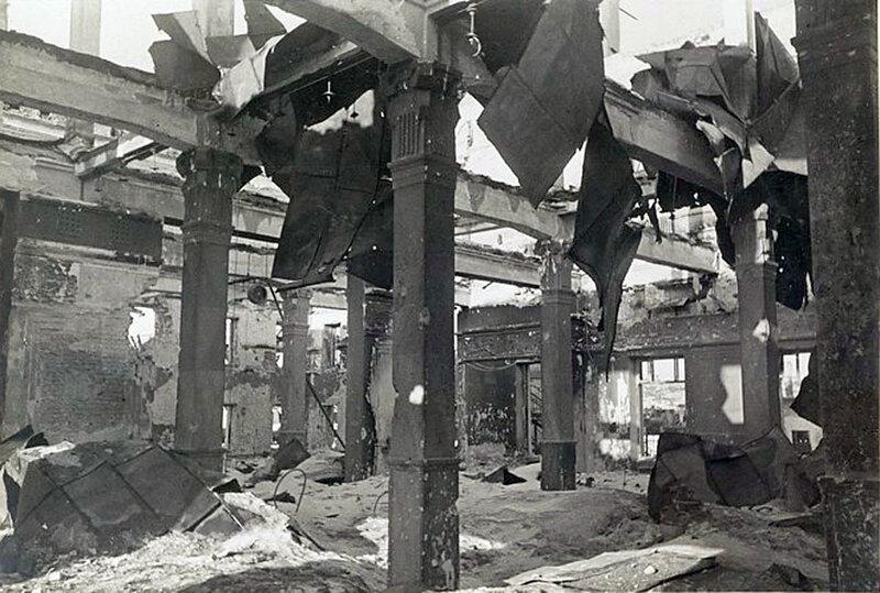 Фото С.Н. Струнникова: Помещение разрушенного вокзала.