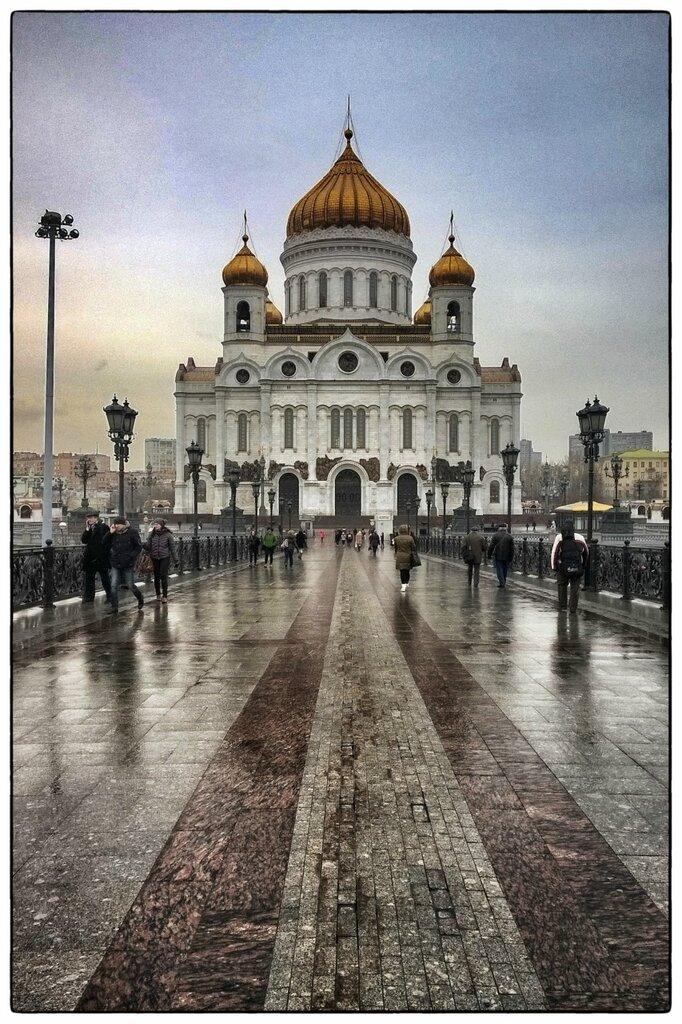 Храм Христа Спасителя со стороны Патриаршего моста