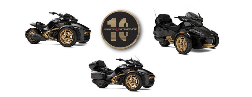 Юбилейные трициклы Can-Am Spyder 2017