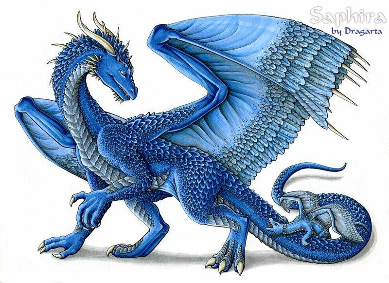 Рисунки синего дракона