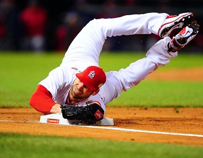 спортивный год 2011 - Крис Карпентер, питчер бейсбольной команды St Louis Cardinals