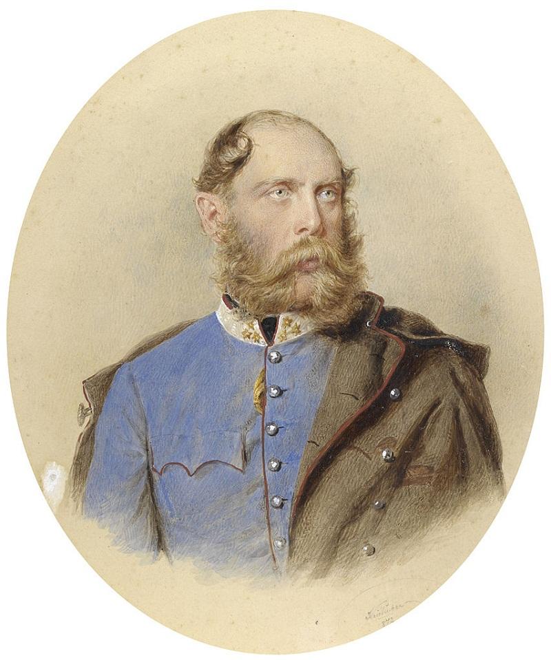 Иосифа Kriehuber Porträt Эрцгерцог Карл Людвига 1872
