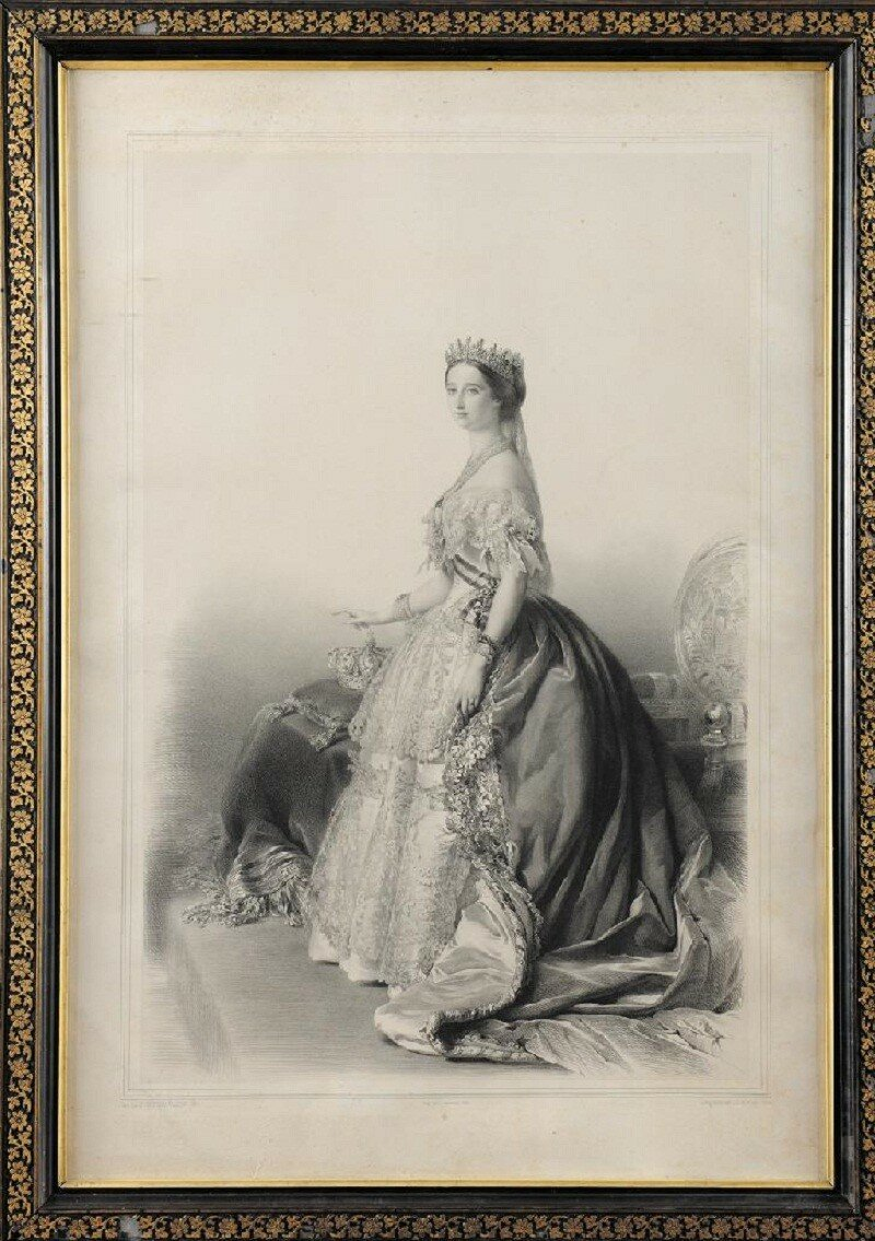 FRANZ XAVER WINTERHALTER (1805-1873), d'après. « L'Imperatrice Eugenie » Lithographie