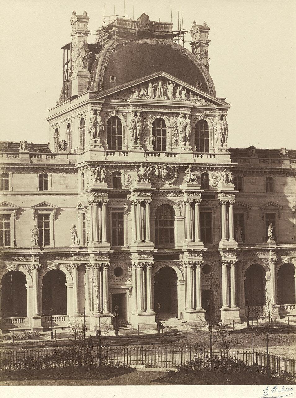 1855-1857. Вид Лувра