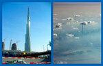 Коллаж. Самое высокое здание на Земле! 1 километр ровно.
