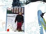 Зимние - открытки шаблоны для Photoshop