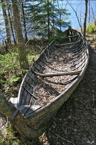 Изготовление лодки.