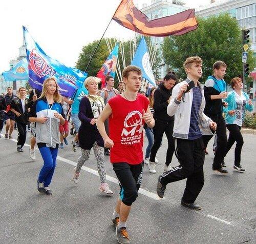 русская пробежка луганск антрацит лнр идиоты партия