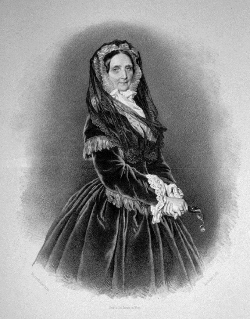 Sophie von Österreich (1805-1872), Erzherzogin, Mutter des Kaisers Franz Joseph I. Lithographie von Josef Kriehuber, ca. 1860