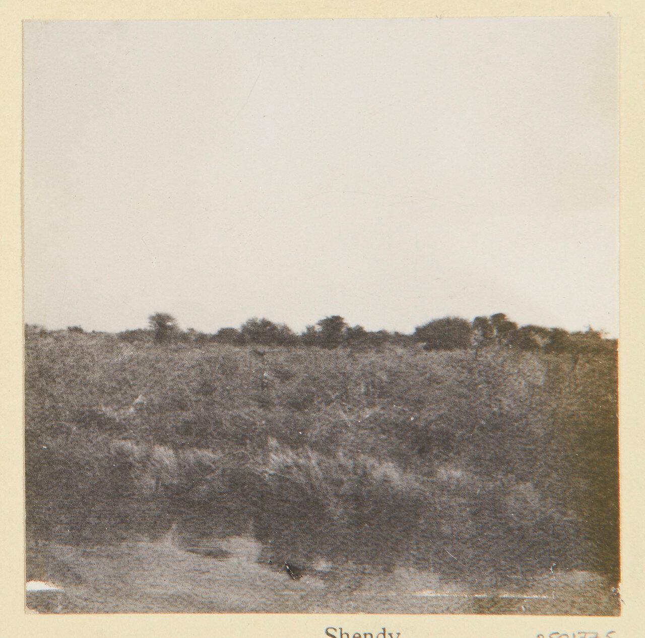 Отдаленный вид Шенди, города в северном Судане