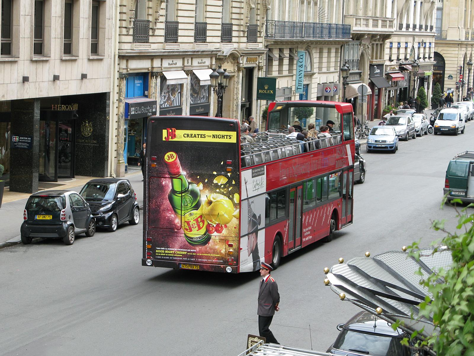 Экскурсионный автобус Les Cars Rouges