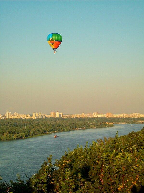 киев полет на воздушном шаре