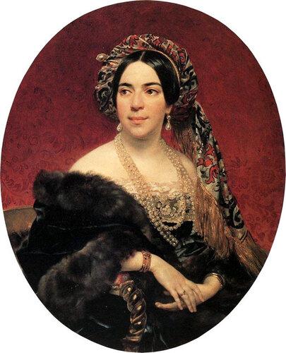 Брюллов К.П. Портрет княгини З.А. Волконской. Примерно 1842 г.