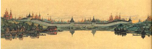Панорама северной линии монастырей сторож по долине реки Неглинки. Михаил Петрович Кудрявцев.