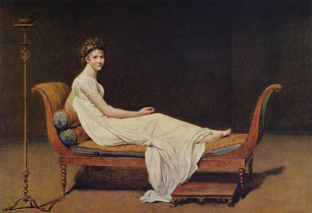 Жак Луи ДавидПортрет мадам Рекамье  [1800]