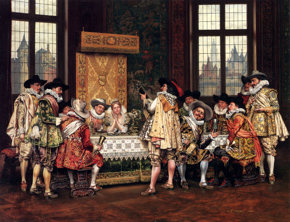 1 Adolphe-Alexandre Lesrel     a_musical_interlude-large.jpg