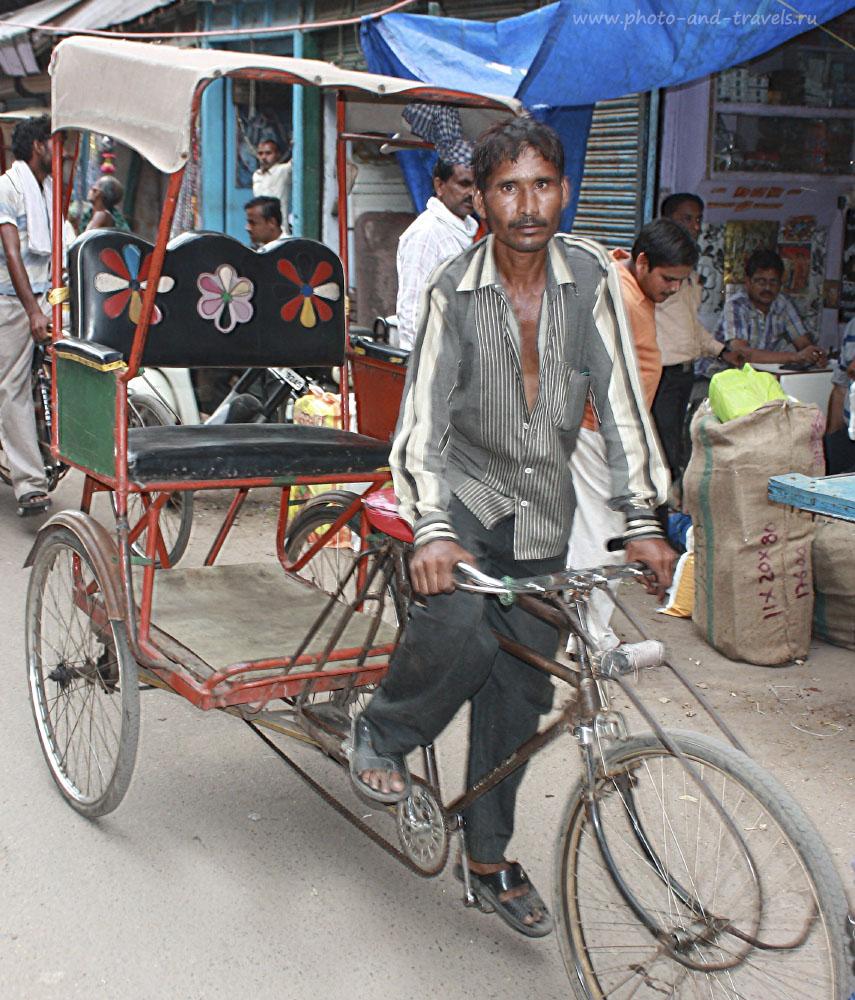 Фотография 10. Съездив самостоятельно в Индию, вы не сможете не прокатиться на велорикше.
