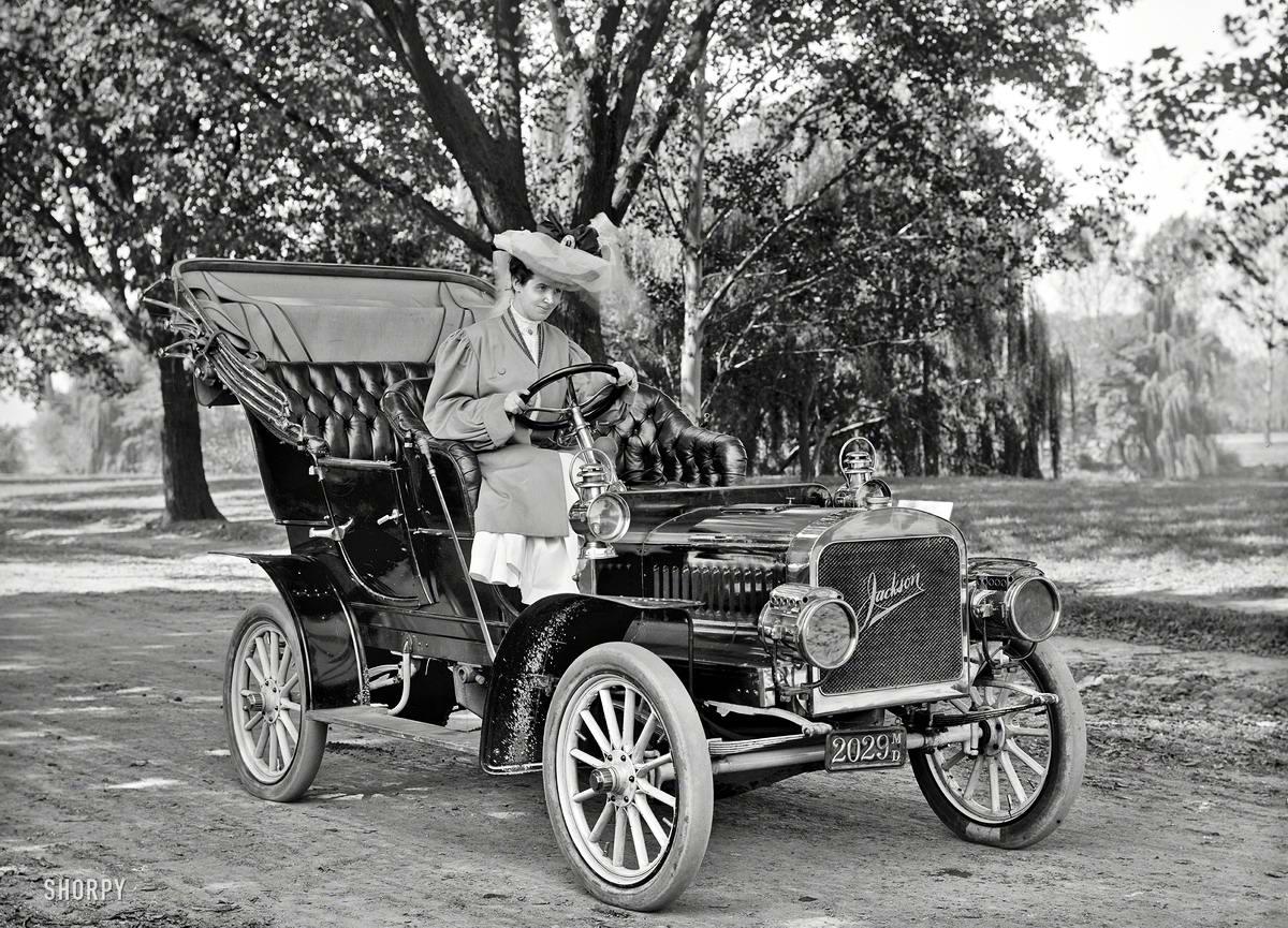 Автомобили и девушки начала 20-го века на снимках американских фотографов (4)