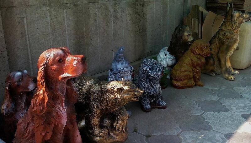 садовые фигуры, фигуры для сада, декор сада