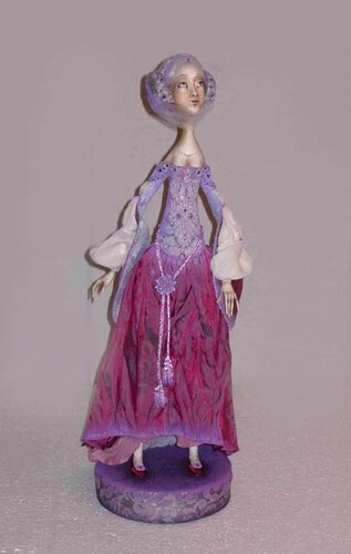 Lilac – art doll by Anna Zueva