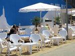 """Насыпной песок в кафе """"Пляж"""""""