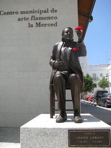 Кадис. Памятник  кантаору Chano Lobato 7-12-1927 - 5-4-2009