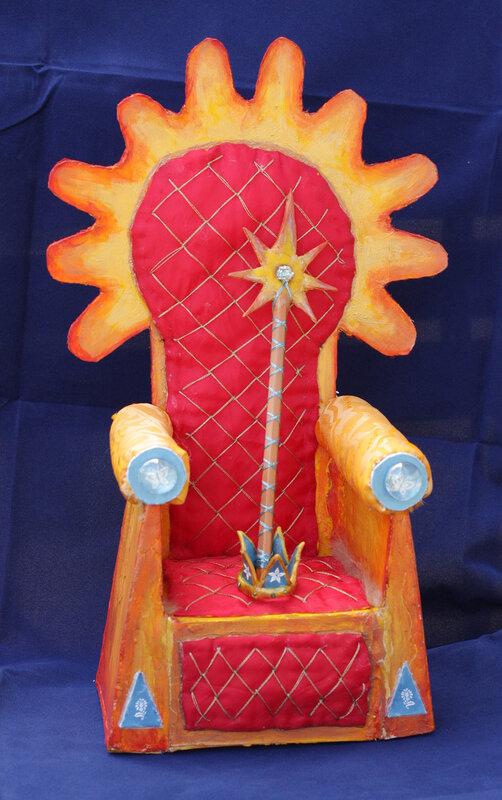 Как сделать трон из картона