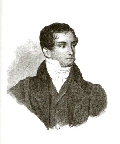 П.Ф. Соколов. Дмитрий Владимирович Веневитинов. 1827 год