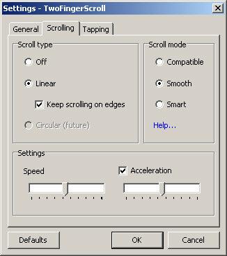 мультитач с помощью Two Finger Scroll