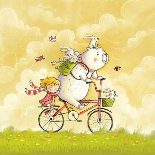 Ехали медведи на велосипеде. Зайцев везли.jpg