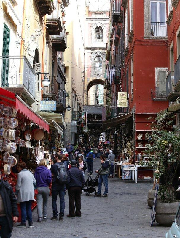 Naples. San Gregorio Armeno Street (Via San Gregorio Armeno)