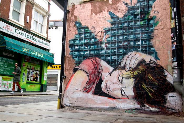 Стрит-арт дуэта из Австрии