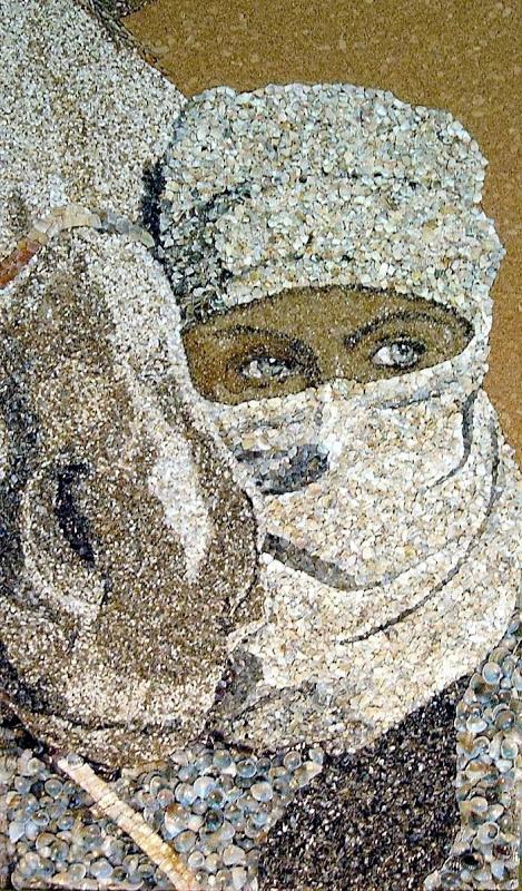 Мозаика из песка и ракушек от Светланы Иванченко (14 фото)