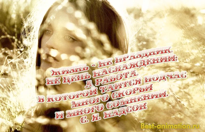 Цитаты великих людей - Что такое жизнь - Жизнь — не праздник, не цепь наслаждений...