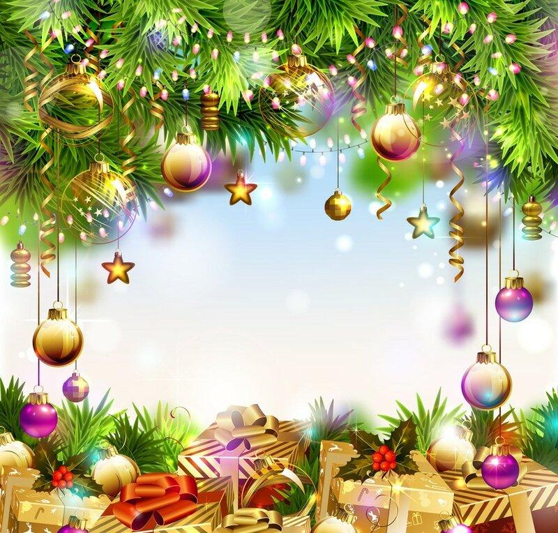 Рамка для новогодних поздравлений, новогодние рамки для текста скачать