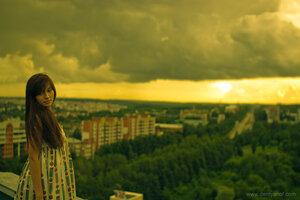 Настя девушка, портрет, город, Настя
