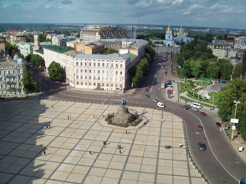 Вид с верхней площадки Софиевской колокольни