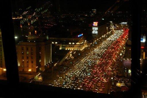 Московские пробки - утром и вечером