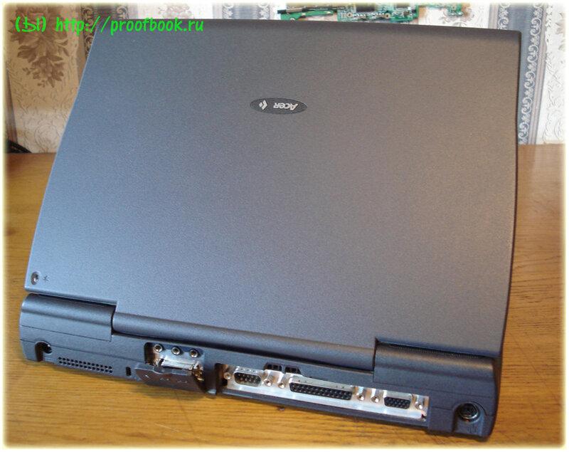 Ретро: Обзор ноутбука AcerNote Light 370DX 1996года
