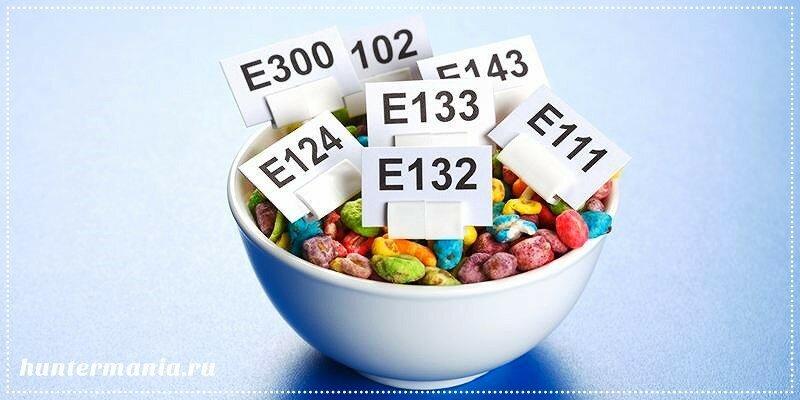 Вредные пищевые добавки с кодом Е
