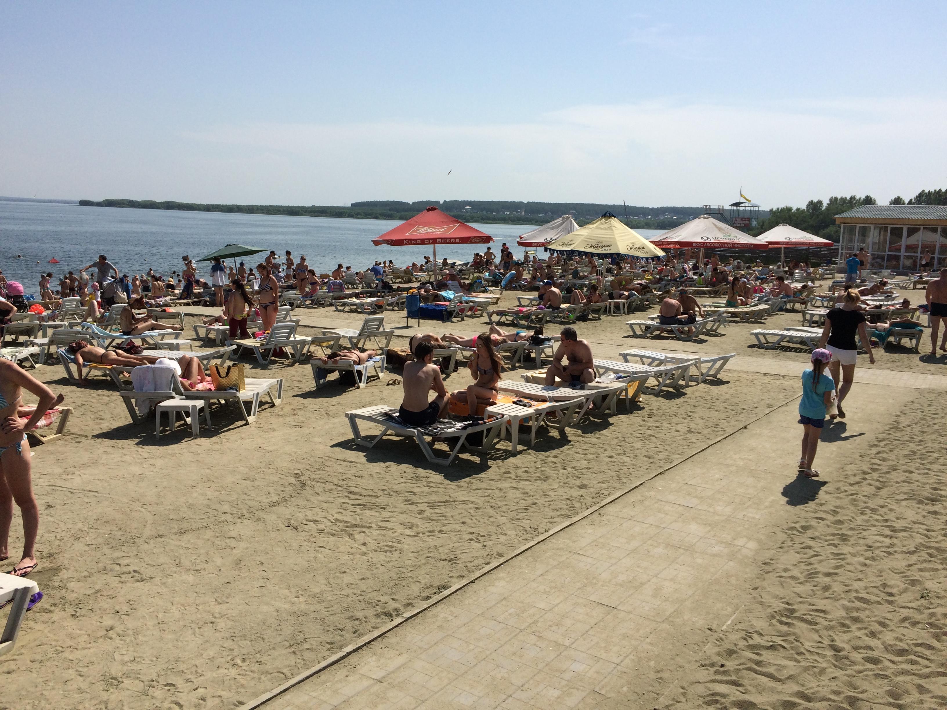 Пляж ″Западный″ на Шершнях (22.06.2015)