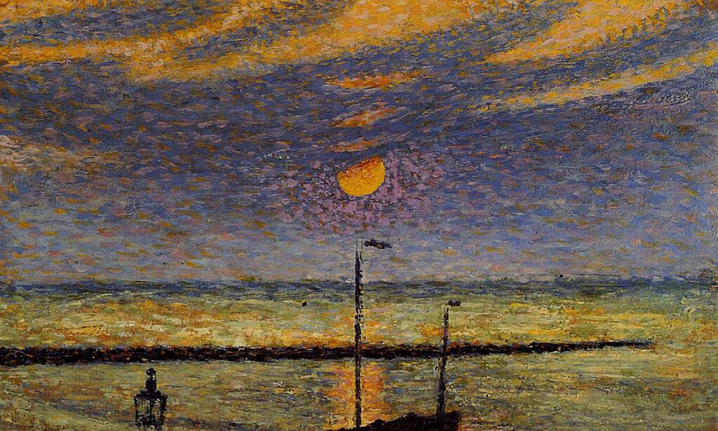 Georges Lemmen - Heyst No. 19 - Clear Night, Moon, 1891.jpeg