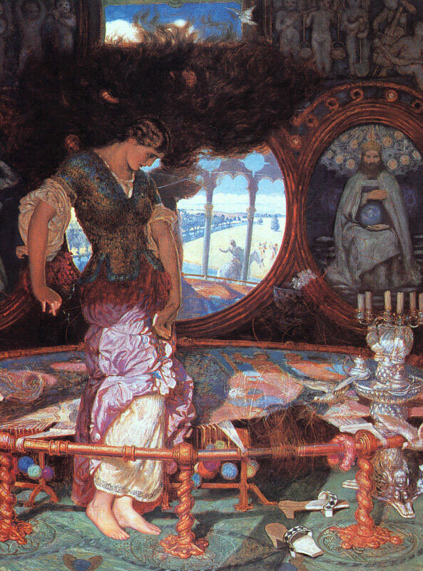lady of shallot theme and imagery Devices in the poem the lady of shalott tennyson uses multiple literary devices in the lady of shalott, including simile, imagery, metaphor, and symbolism.