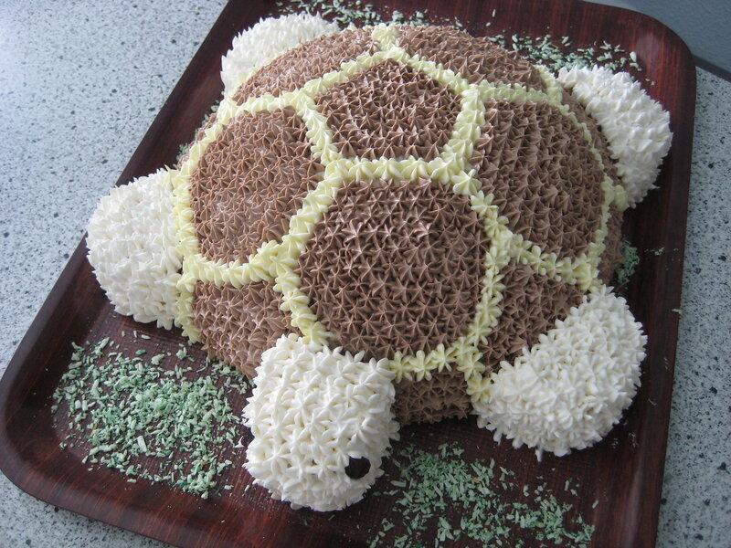 Как украсить торт черепаху