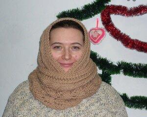 """шарф-снуд """"Дорожка из листьев"""""""