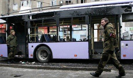 На остановке общественного транспорта в Донецке - взрыв