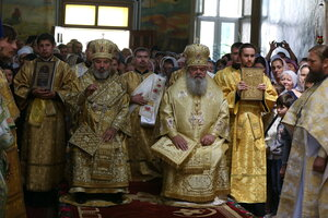 Sărbătoarea hramului de vară în cinstea Sfîntului Ierarh Mitrofan la Mănăstirea Călărășeuca